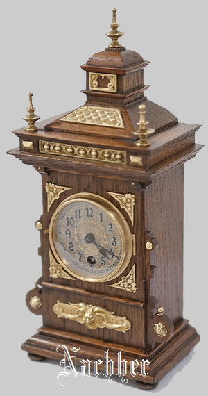 Lenzkirch Pendule Eiche Oak Clock 02